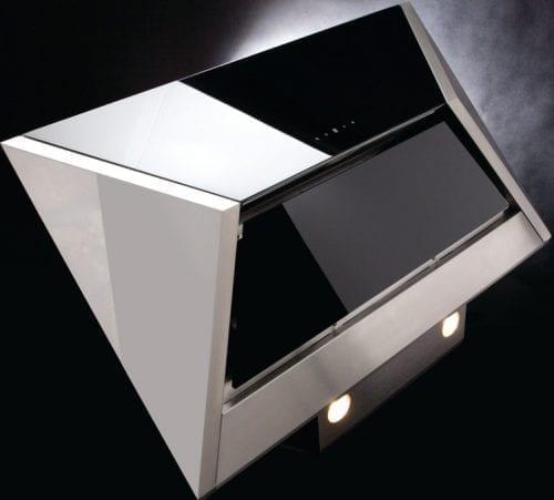 CDA EVM9SS 90cm Touch Control Geometric Twin Fan Cooker Hood In Stainless Steel