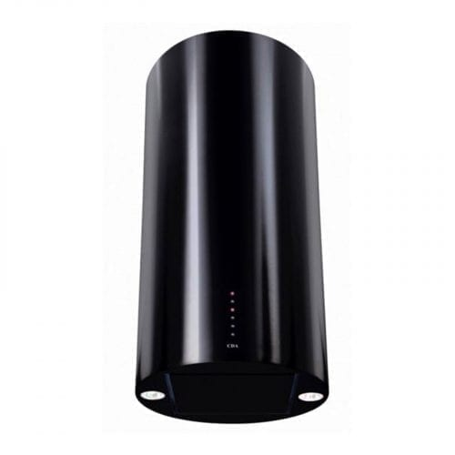 CDA EVC4BL 40cm Soft Touch Button Cylinder Black Chimney Cooker Hood Extractor