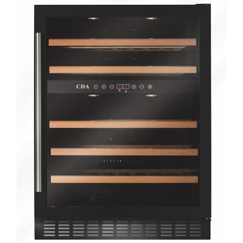 CDA FWC603BL 60cm 46 Bottle Free Standing Under Counter Wine Cooler
