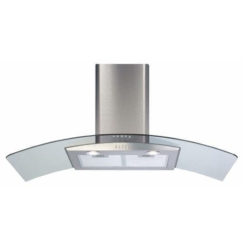 CDA ECP102SS 100cm Curved Glass Cooker Hood Extractor in Stainless Steel
