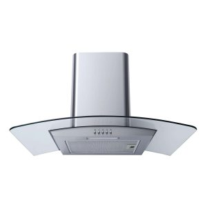 SIA CG61SS 60cm Stainless Steel Curved Glass Chimney Cooker Hood Extractor Fan