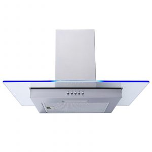 SIA 60cm Stainless Steel Flat Glass 3 Colour LED Cooker Hood Extractor Fan