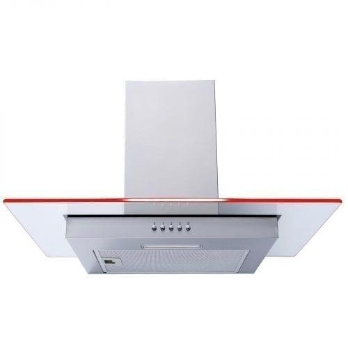 SIA 60cm LED Edge Lit Stainless Steel Cooker Hood Extractor Fan + 3m Ducting Kit