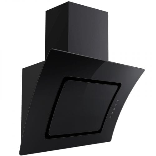 SIA AT61BL 60cm Touch Control Curved Glass Cooker Hood Extractor Fan In Black