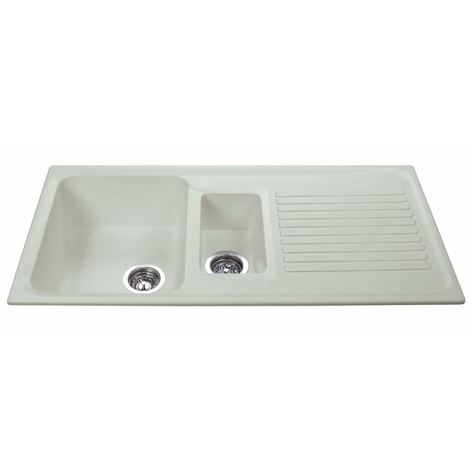 cda as2cm 1 5 bowl cream reversible quartz composite kitchen sink rh shipitappliances com quartz composite kitchen sinks reviews best quartz composite kitchen sinks