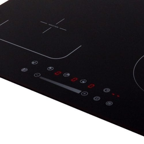 SIA INF60BL Black 60cm 4 Zone Flexi-Bridge Touch Control Electric Induction Hob