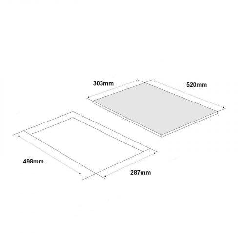 SIA BGH30BL Black 30cm Gas On Glass Domino Hob | Cast Iron Pan Support | LPG Kit
