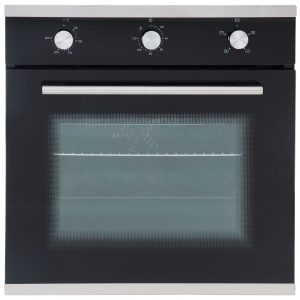 SIA SO101 60cm Electric True Fan Oven, 4 Burner Gas Hob & Curved Glass Extractor