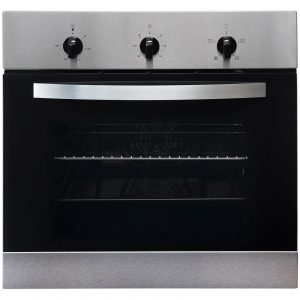 SIA DO101 Double Electric Oven, 60cm 4 Burner Gas Hob & Curved Glass Cooker Hood