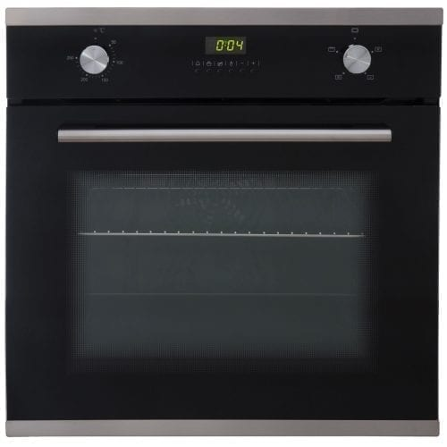 SIA SO102 60cm Single Electric Fan Oven & SIA 70cm Black 5 Burner Gas Glass Hob