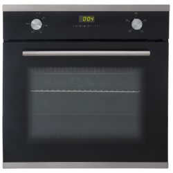 SIA SO102 60cm Black Built In Multi Function Electric Single True Fan Oven