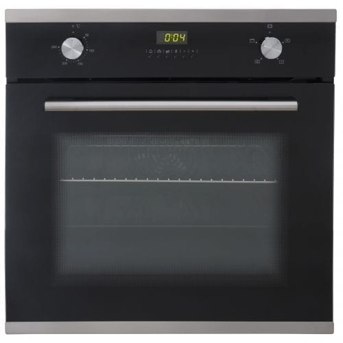 SIA SO102 60cm Built In Multi Function Electric Single Fan Oven In Black