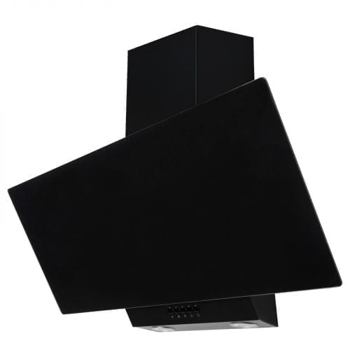 SIA EAG91BL 90cm Black Angled Glass Chimney Cooker Hood Kitchen Extractor Fan