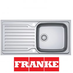 Franke Antea AZN 611-100 Stainless Steel 1.0 Large Bowl Reversible Kitchen Sink