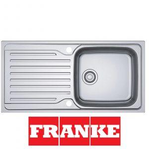 Franke Antea AZN 611-100 1.0 Large Bowl Stainless Steel Reversible Kitchen Sink