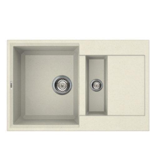 Reginox Easy 325 Cream Granite Composite Inset 1.5 Bowl Reversible Kitchen Sink