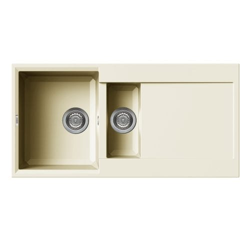 Reginox Easy 475 Cream Granite Composite Inset 1.5 Bowl Reversible Kitchen Sink