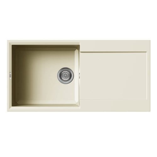 Reginox Easy 480 Cream Granite Composite Inset 1.0 Bowl Reversible Kitchen Sink