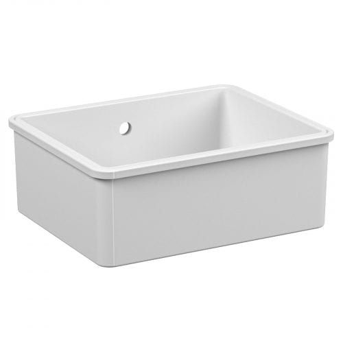 Reginox Mataro 1.0 Bowl White Ceramic Undermount Kitchen Sink & Waste