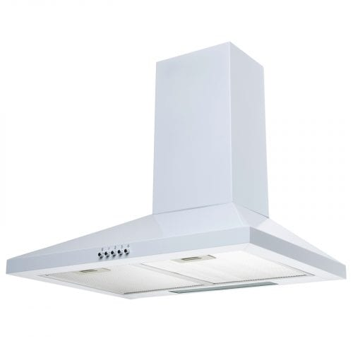 SIA CHL61WH 60cm White Chimney Cooker Hood Kitchen Extractor Fan