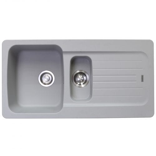 Franke Aveta 1.5 Bowl Stone Grey Tectonite Reversible Kitchen Sink & Waste kit