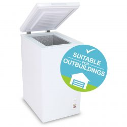 SIA CF60WH 43cm Freestanding 61L Chest Freezer In White With A+ Energy Rating