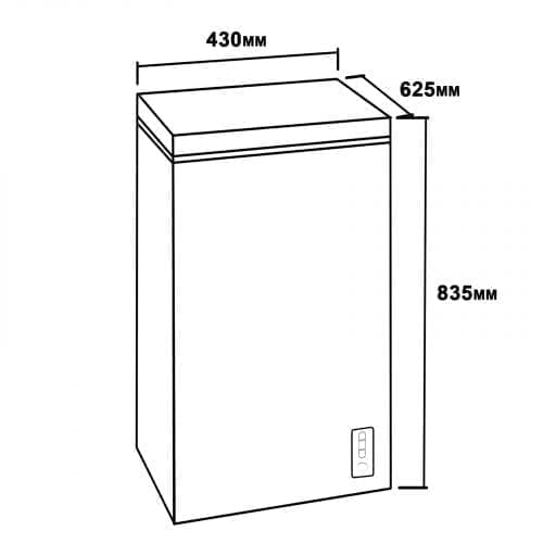 SIA CF60WH Chest Freezer In White | 61 Litres Capacity | A+ Energy Rating