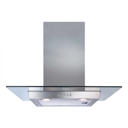 CDA ECN62SS 60cm Flat Glass Stainless Steel Chimney Cooker Hood Extractor