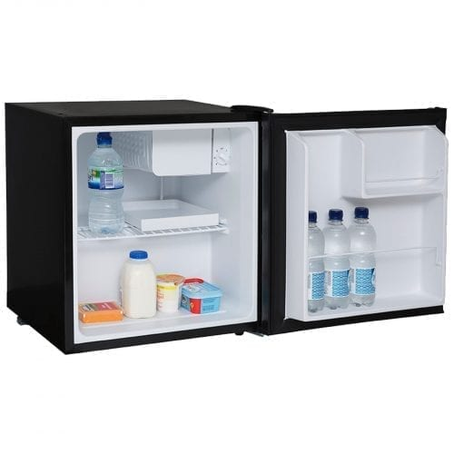 SIA TT01BL Black 47 Litres Counter Table Top Mini Drinks Fridge with Ice Box