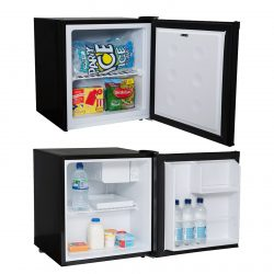 SIA 38L Black Table Top Mini Freezer & 47L Black Mini Drinks Fridge With Ice Box