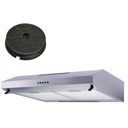 SIA STV60SS 60cm Stainless Steel Visor Cooker Hood Extractor And Carbon Filter