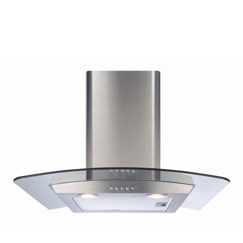 CDA ECP62SS 60cm Curved Glass Cooker Hood Extractor In Stainless Steel