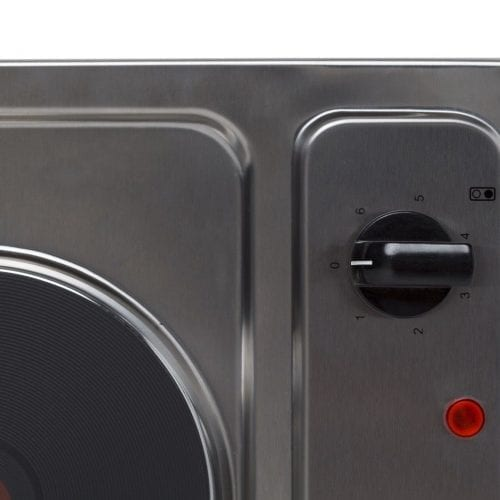 SIA PHP301SS 30cm 2 Zone Electric Solid Plate Domino Hob In Stainless Steel