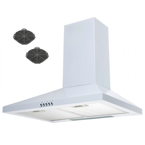 SIA CHL61WH 60cm Chimney Cooker Hood Kitchen Extractor Fan in White + Filters