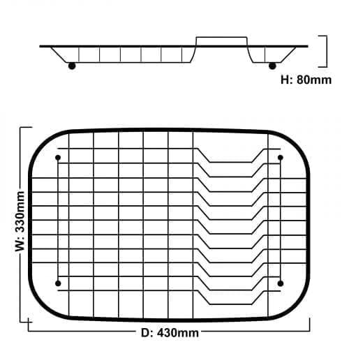 Reginox CBD 1 Stainless Steel Basket Drainer Rack for Kitchen Sinks