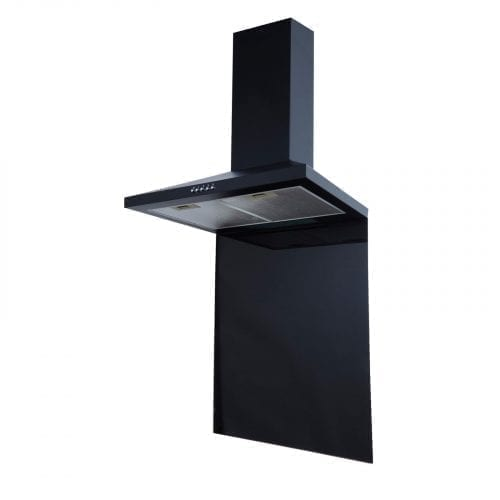 SIA SP60BL 60cm x 75cm Black Toughened Glass Kitchen Splashback