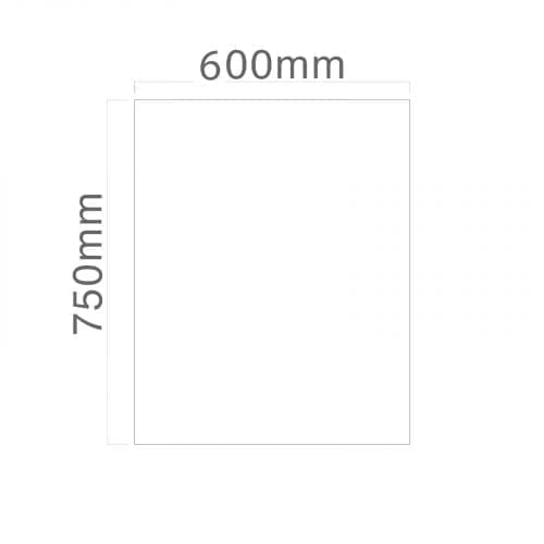 SIA SP60BL 60cm x 75cm Toughened Black Glass Splashback