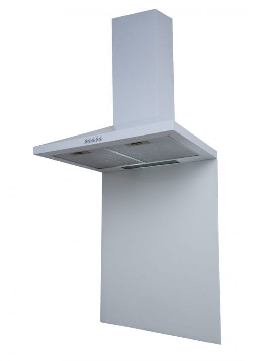 SIA SP60WH 60cm x 75cm Toughened Glass Splashback In White