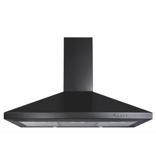 CDA ECH91BL 90cm Chimney Cooker Hood Extractor Fan In Black