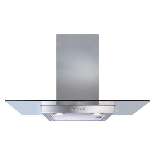 CDA ECN92SS 90cm Flat Glass Stainless Steel Chimney Cooker Hood Extractor