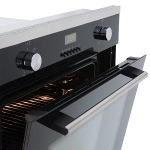 SIA 60cm Single Electric True Fan Oven & 70cm 5 Burner Stainless Steel Gas Hob