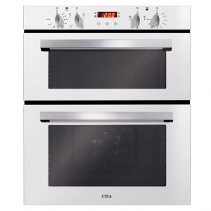 CDA DC740WH Built Under Fully Programmable Double Electric Oven in White