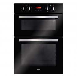 CDA DC940BL 60cm Black Built In Fully Programmable Double Electric True Fan Oven