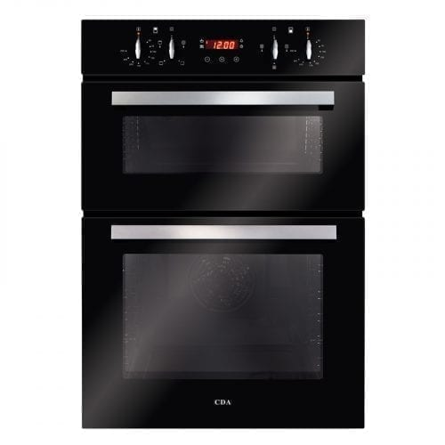 CDA DC940BL 60cm Built in Fully Programmable Double Electric Oven in Black