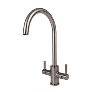 Franke Sirius 1.0 Bowl Black Kitchen Sink & Reginox Genesis Swan Neck Mixer Tap