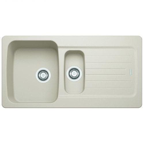 Franke Aveta 1.5 Bowl Cream Reversible Tectonite Kitchen Sink & Astoria Tap