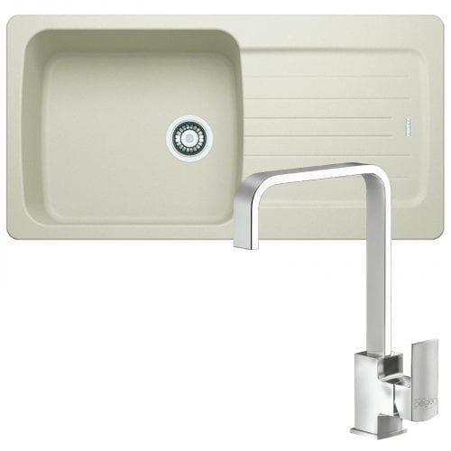 Franke Aveta 1.0 Bowl Cream Tectonite Kitchen Sink & Reginox Astoria Tap