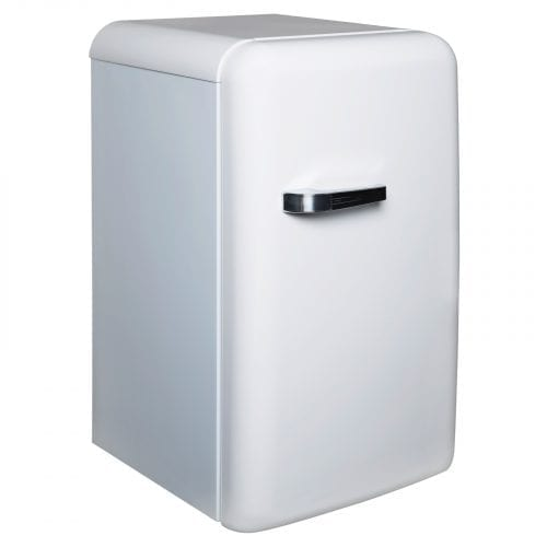 SIA RT01WH 126L White Freestanding 50's Retro Style Fridge With Ice Box