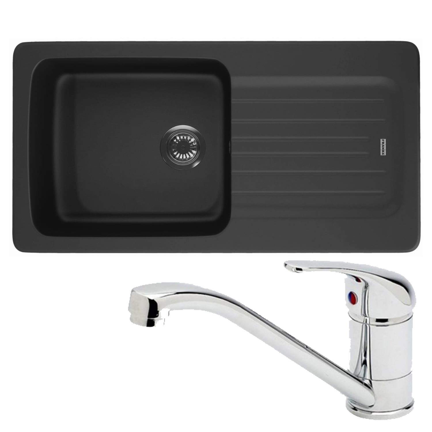 Franke Black Kitchen Sink: Franke Aveta 1.0 Bowl Black Tectonite Kitchen Sink