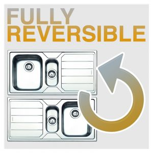 Franke Sirius SID651CO 1.5 Bowl Coffee Tectonite Reversible Kitchen Sink & Waste